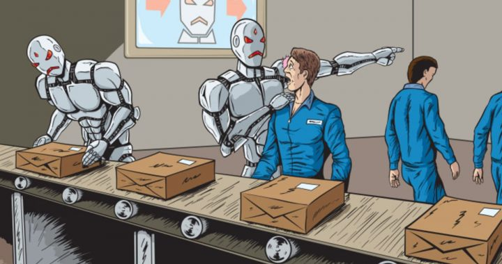 Introduction of Robots and the Unemployment Rate